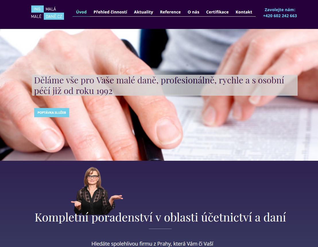Maledane.cz | webový design Aleš Vaněk | creativepeople.cz