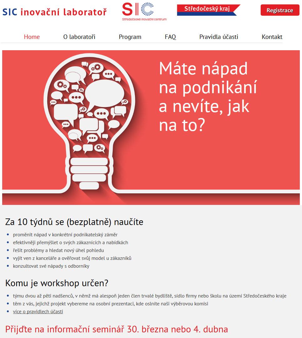 SIC-inovacní-laborator | webový design Aleš Vaněk | creativepeople.cz