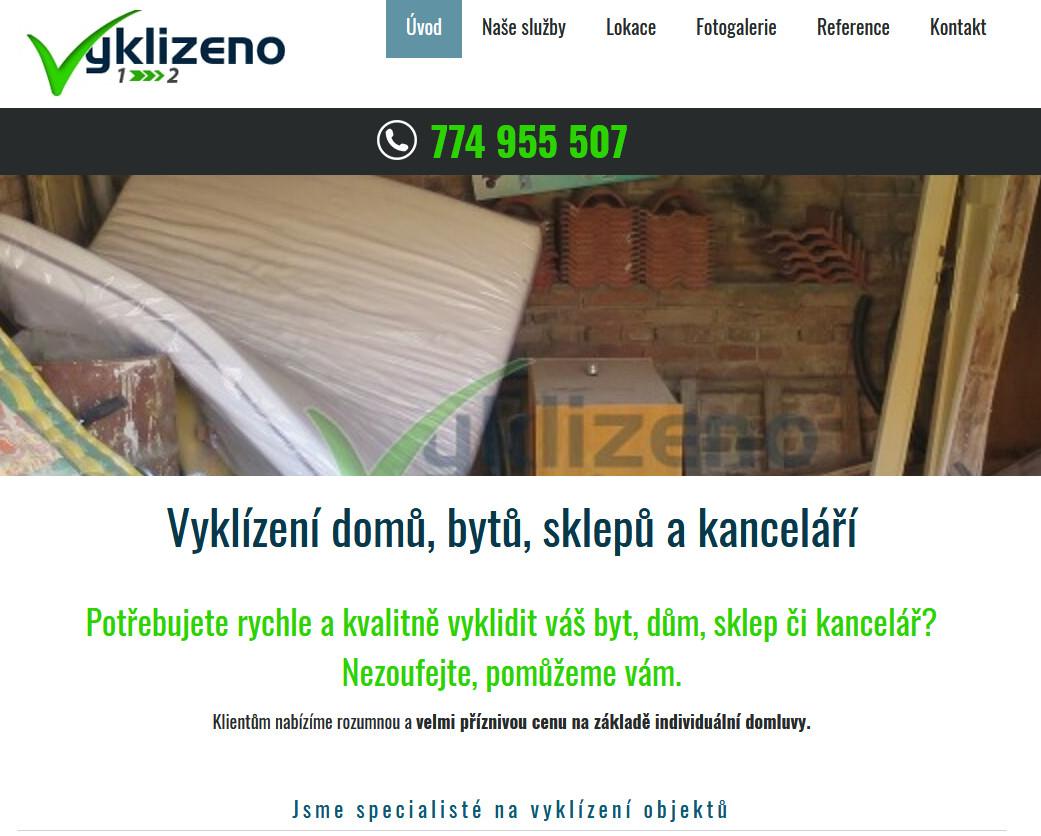 vyklizeno.cz | webový design Aleš Vaněk | creativepeople.cz